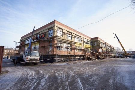 В микрорайоне Первомайский строится детский сад на 350 мест