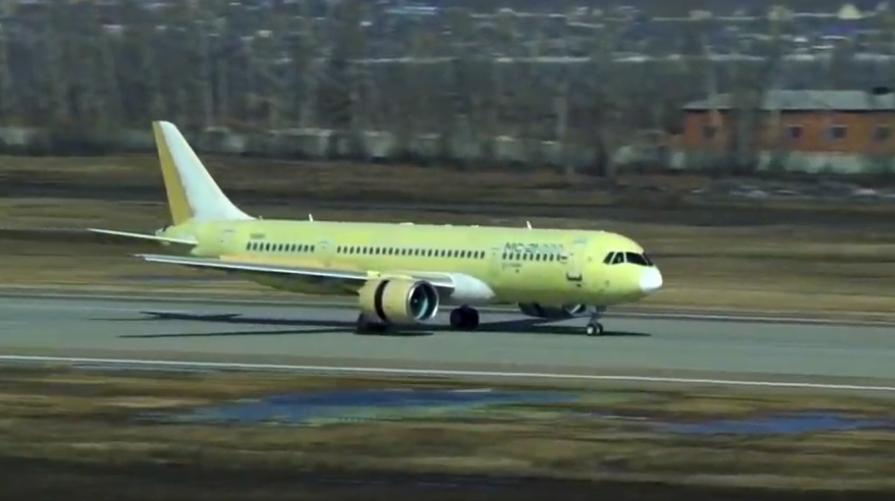 В Иркутске в воздух поднялся третий опытный самолет МС-21-300