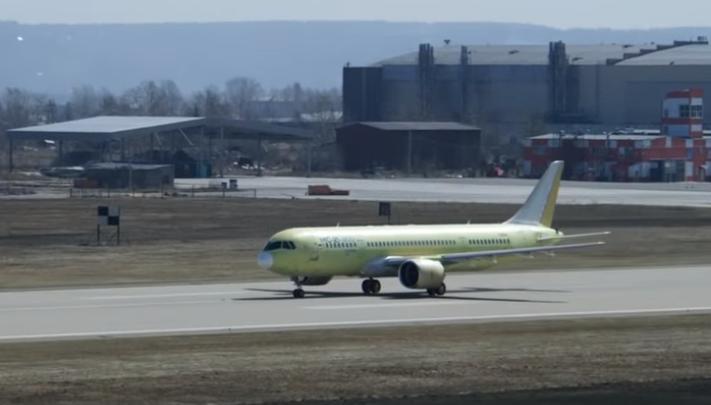 Из Иркутска в Ульяновск 27 апреля совершил перелет опытный самолет МС-21-300