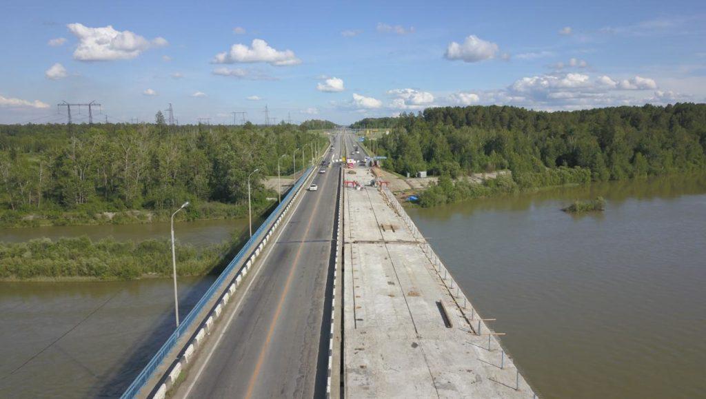 Изменилась схема движения автотранспорта по мосту через реку Китой в Ангарском районе