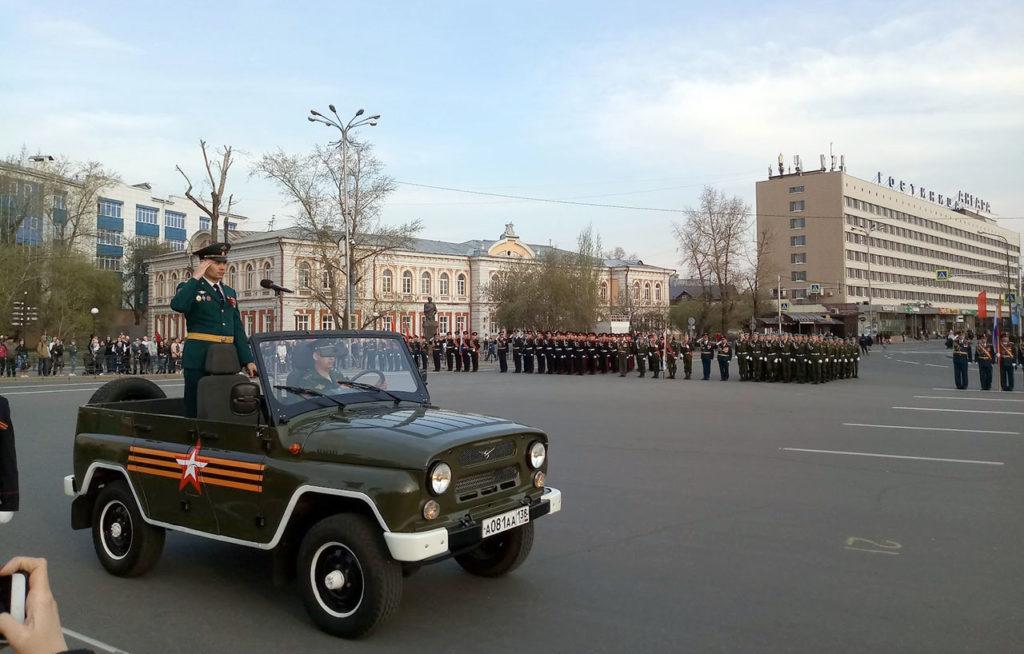 Генеральная репетиция парада Победы 2019 прошла в Иркутске