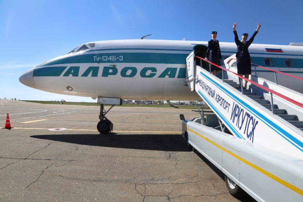 Вчера из Иркутского аэропорта совершил крайний рейс лайнер Ту-134