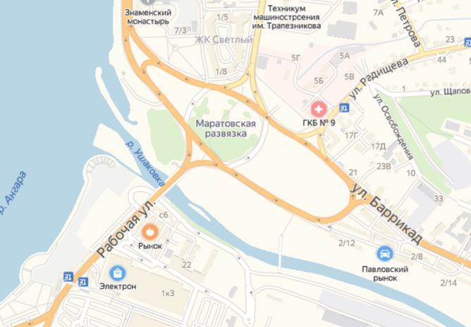 В Иркутске на месяц будет ограничено движение транспорта по Маратовскому кольцу