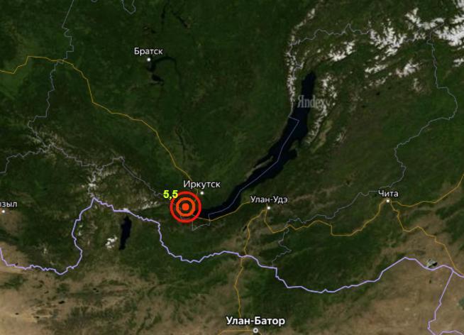 Землетрясение в Иркутской области