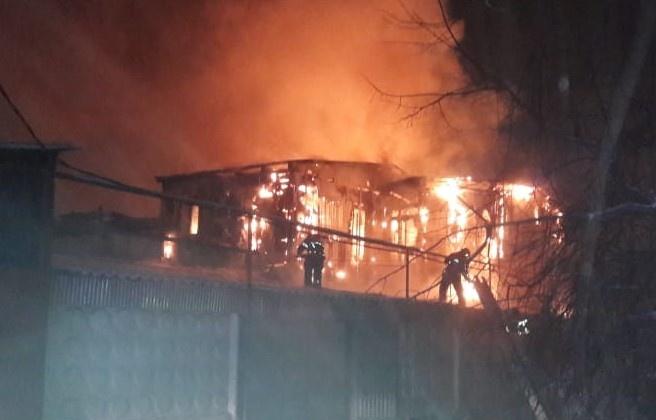 Крупный пожар в Иркутске