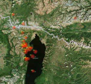 Подземные толчки в районе озера Хубсугул в Монголии продолжаются