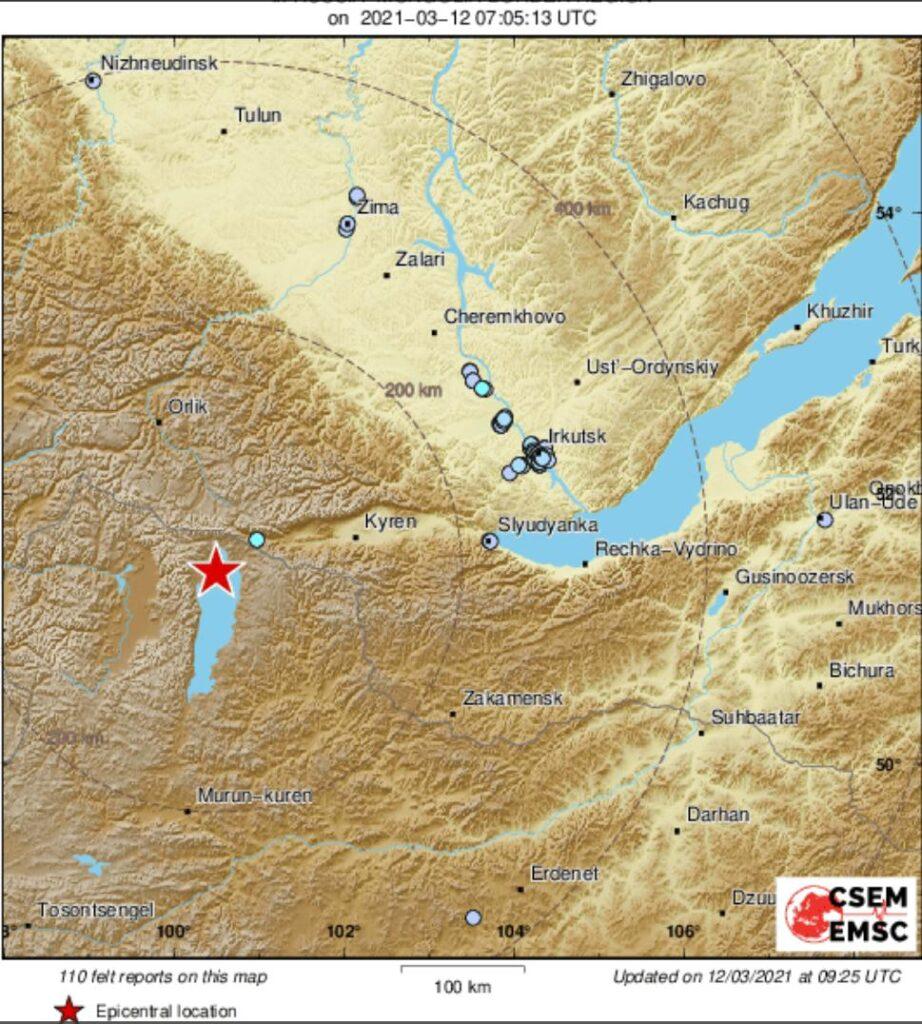 Очередное землетрясение в Иркутске