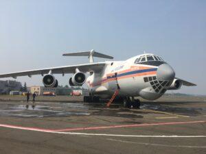 Для ликвидации ЧС, связанной с лесными пожарами в Катангском районе, в Иркутскую область прибыл самолёт Ил-76 МЧС