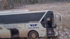 Очередное ДТП с автобусом на дорогах Иркутской области
